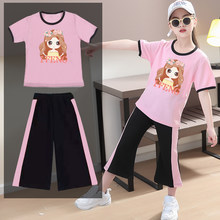 2021 verão meninas conjuntos de roupas moletom curto + calças menina crianças agasalho roupas ternos adolescentes 5 6 8 9 10 12 anos