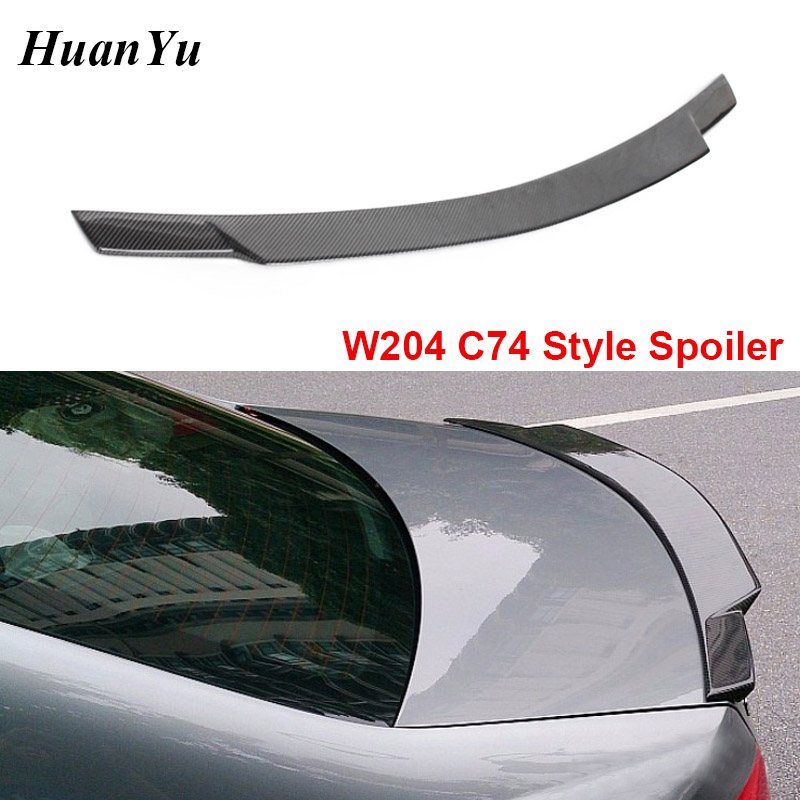 <font><b>W204</b></font> C74 Style Rear <font><b>Spoiler</b></font> for <font><b>Mercedes</b></font>-<font><b>benz</b></font> <font><b>C</b></font> <font><b>Class</b></font> 2008-2014 Ducktail Lip Wings Carbon Fiber Trunk Boot Lips C180 C200 C260 image