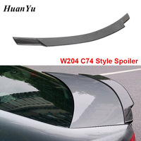 W204 C74 Style Rear Spoiler for Mercedes benz C Class 2008 2014 Ducktail Lip Wings Carbon Fiber Trunk Boot Lips C180 C200 C260