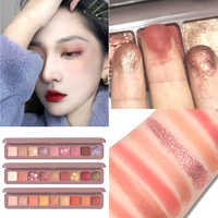 9 Color Glitter Eye Shadow Palette Makeup Kit Nude Matte Pigment Shimmer Colorful Eyeshadow Powder Waterproof Cosmetics Tools