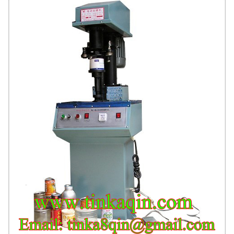 DGT41 double motor capping machine PET can sealing machine Paper can Sealer Milk powder can capping machine Locking machine Capp