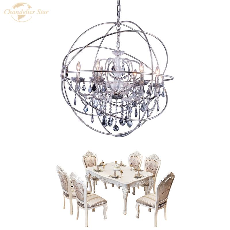 Купить хрустальные люстры в скандинавском стиле современная сферическая