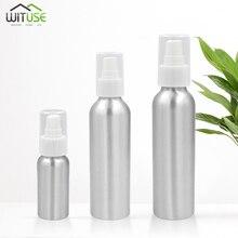 1 шт. алюминиевая пустая бутылочка с распылителем для эфирных масел, флаконы для распыления духов, многоразовый контейнер, распылитель мелкого тумана