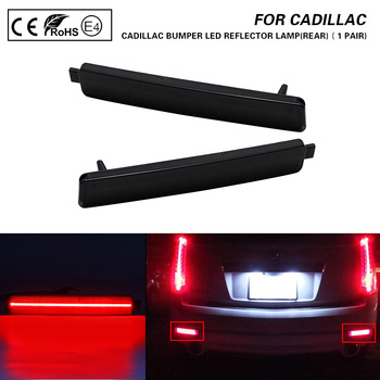 For Cadillac CTS CTS-V Buick Enclave Chevrolet Equinox Trailblazer GMC Pontiac Rear Bumper LED Reflector Light lamp Smoked 2PCS image