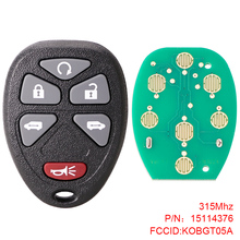 цена на Car Key 315Mhz 6 Button Remote Keyless Entry Remote Key Fob Car Key KOBGT05A Fit for 2005 2006 2007 2008 2009 Chevrolet Uplander