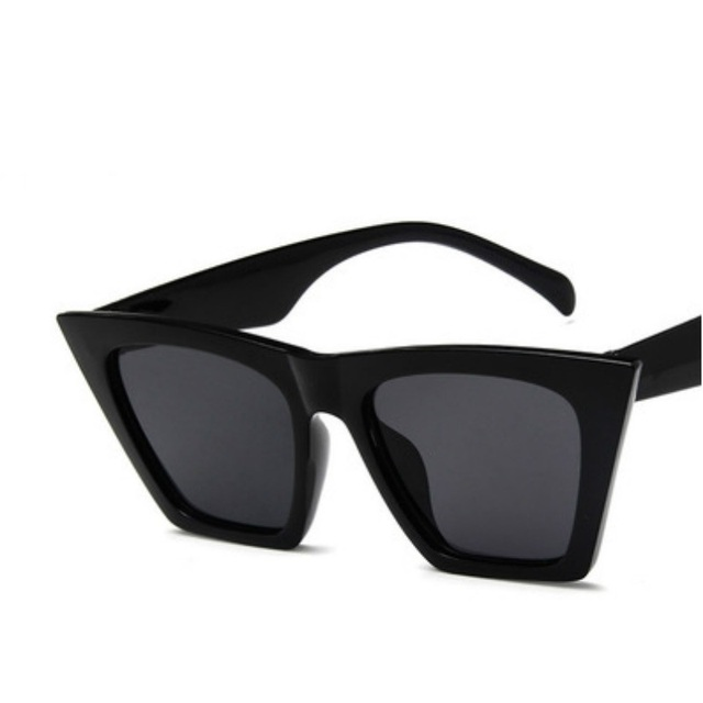 Square glasses Personalized cat eyes Colorful trend versatile uv400 4
