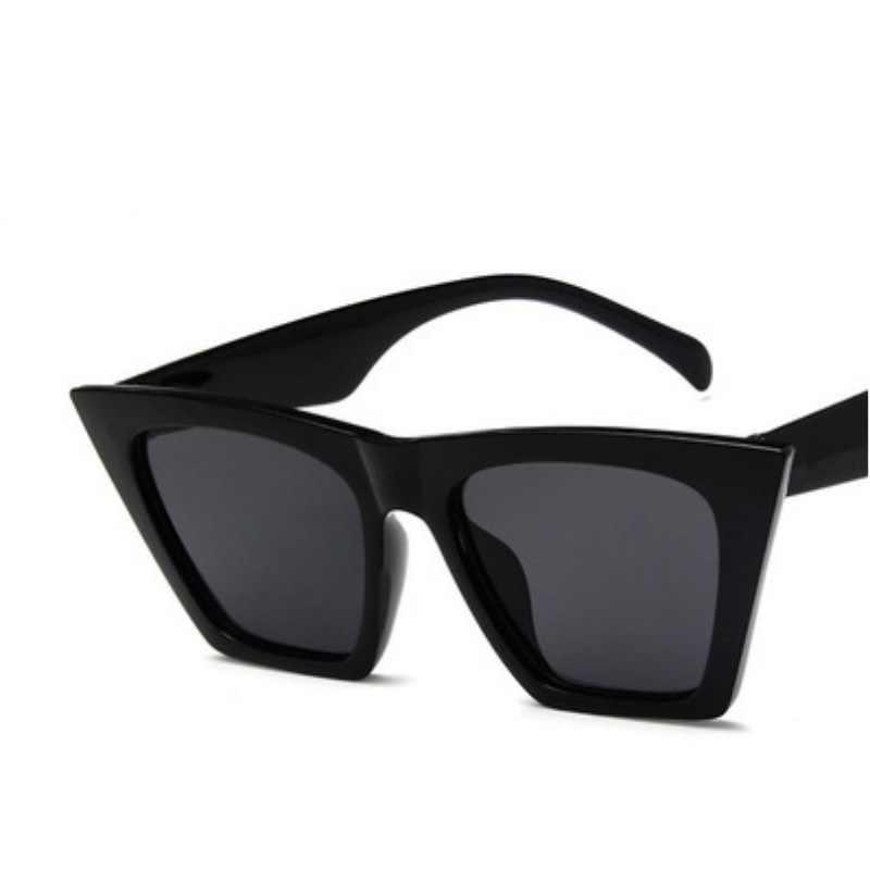 2019 nova marca óculos de sol quadrados óculos personalizados gato olhos coloridos tendência versátil óculos de sol uv400 cortina