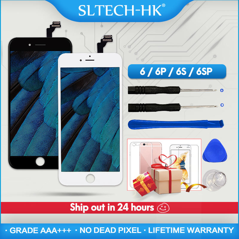 Grade AAA+++ For iPhone 6 6S Plus LCD With 3D Force Touch Screen Digitizer Assembly For iPhone 5S Display No Dead Pixel image