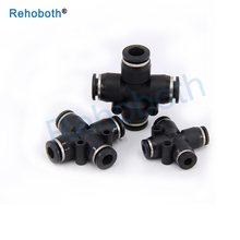 1 Pcs PZA4 6 8 10 12mm Air Fitting 4-Way Cross Shaped Splitter Push in Pneumatic Tube Connector Quick Fittings g1 2 in g1 4 out 6 way pneumatic air solid aluminum manifold block splitter