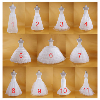 Hot Sell Many Styles Bridal Wedding Petticoat Hoop Underskirt Fancy Skirt Slip White Tulle Dress Puffy - discount item  20% OFF Wedding Accessories