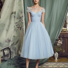 Een Lijn Cocktail Jurk Korte Prom Dress Lace-Up Back Prom Gown Robe De Soiree Kant Applicaties Formele Party vestidos De Cóctel