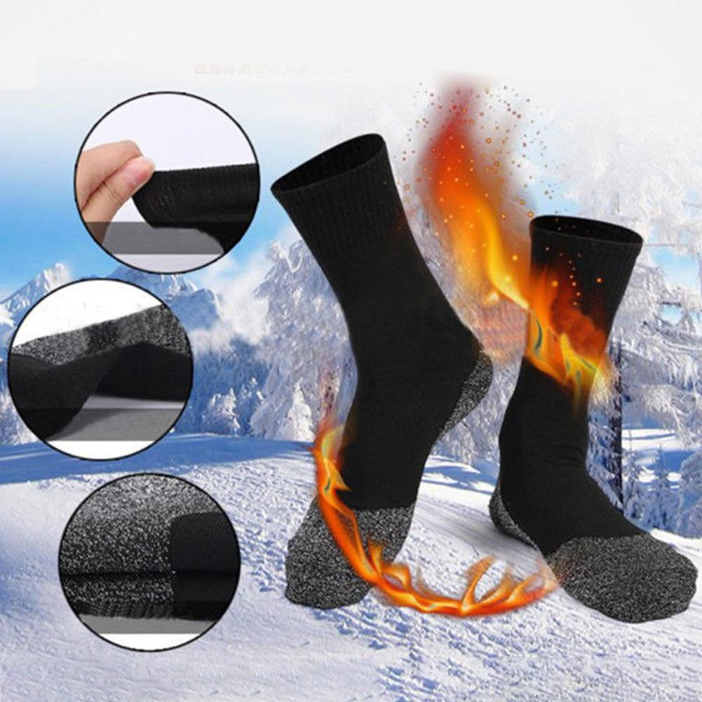 1 Pair Hiking Ski Socks Outdoor Winter Unisex Thermal Work Boot Warm Heat Guard Hiking Ski Sports Socks For Women Men