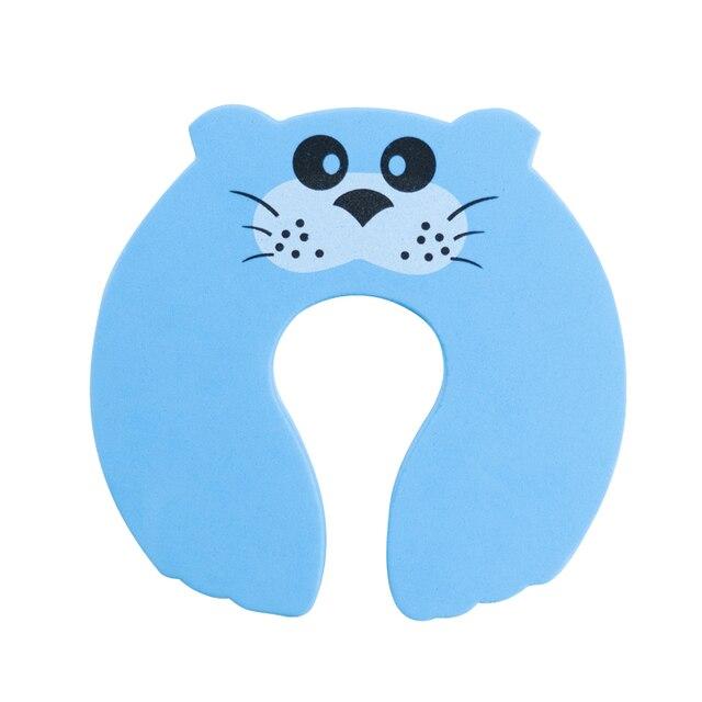 10pcs/Lot Kids Baby Cartoon Animal Jammers Stop Edge Corner Guards Door Stopper Holder Lock Baby Safety Finger Protector Cute 4
