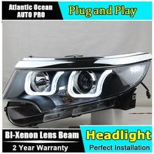 פנסים לפורד קצה 2010 2014 LED/קסנון נמוך Beam גבוהה קרן LED בשעות היום ריצת אור סדרתית תור אות 1 זוג