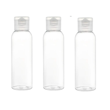 50/60/100ml Clear Plastic Travel Bottles Flip Cap Empty Bottles Refillable Bottles Containers for Cosmetics, Lotion, Liquids 100ml pet clear empty travel lotion liquid shampoo makeup container bottles cosmetic containers