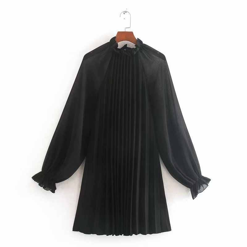 Cc48-9541 Europese En Amerikaanse Mode Kleine Geplooide Mini Dresswomen Jurk Vestidos De Verano Zomer Jurk