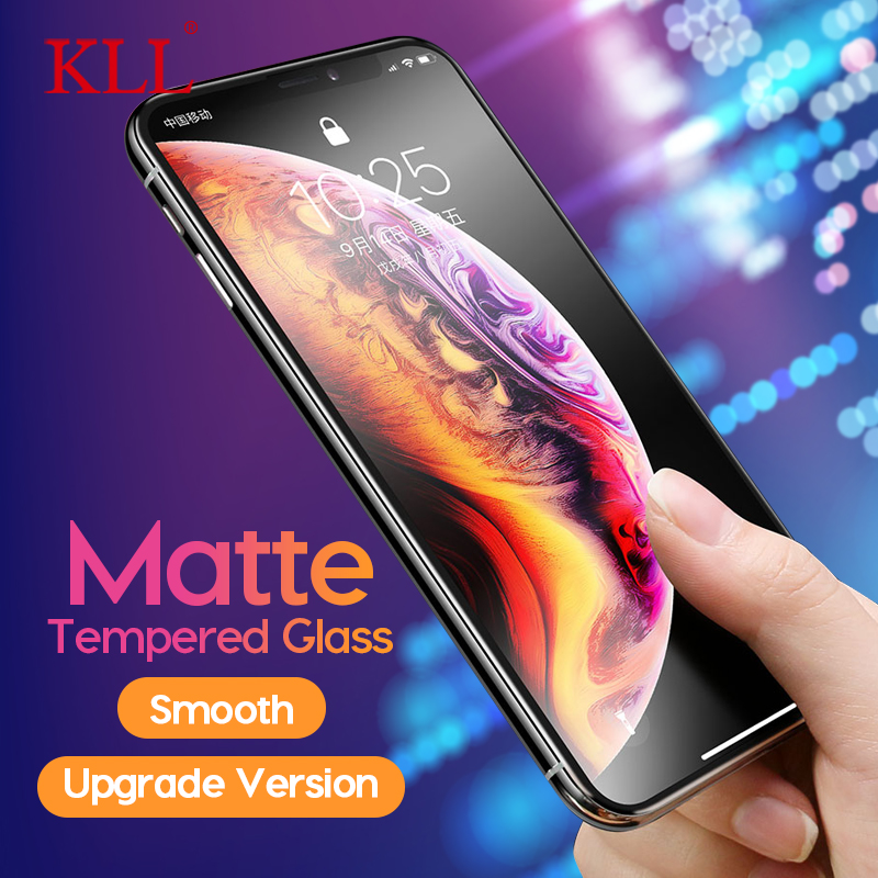 Matte Tempered Glass For IPhone 11 Pro Max XR X XS Max No Fingerprint 9H Full Cover Frosted Glass For IPhone 7 6 6s 8 Plus