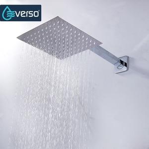 Image 2 - Round & Square Stainless Steel Showerhead  Rainfall Shower Head Rain Shower Chrome  high pressure  chuveiro  bath faucet ducha