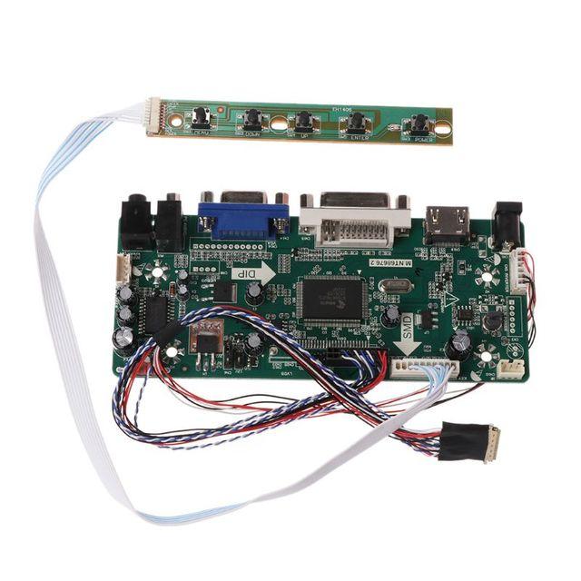 "Placa de controlador lcd dvi vga módulo de áudio pc driver kit diy 15.6 ""display b156xw02 1366x768 1ch 6/8 bit painel de 40 pinos"
