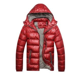 Image 2 - Cotton Padded Winter Jacket Men Loose Coat 2020 Warm Even Hat Parka Man Plus Size 6XL 7XL Leisure Mens Black Blue Jacket Orange