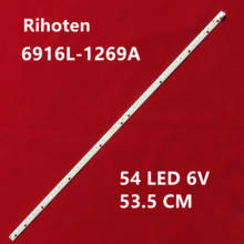 Led barra de retroiluminação 54leds, para lg 42