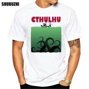 Мужская футболка Lovecraft Cthulhu Jaw Parody Funny Horror Artsy Awesome Art с принтом