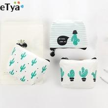 ETya мультяшный милый маленький детский женский кошелек, кошелек для монет, кошелек для денег, кактус, сумка для ключей