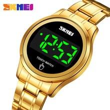 SKMEI LED Touch Screen Time Date Display Female Clock Women Watch Waterproof Electronic Ladies Wristwatch Relogio Feminino 1737