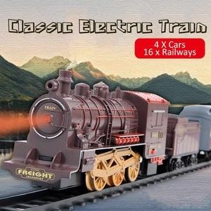 Retro Electric Train Toy Rails