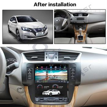 64G Android9 Tesla style Car GPS Navi BT multimedia For NISSAN Sylphy 2012-2016 auto stereo radio tape recorder No DVD head unit