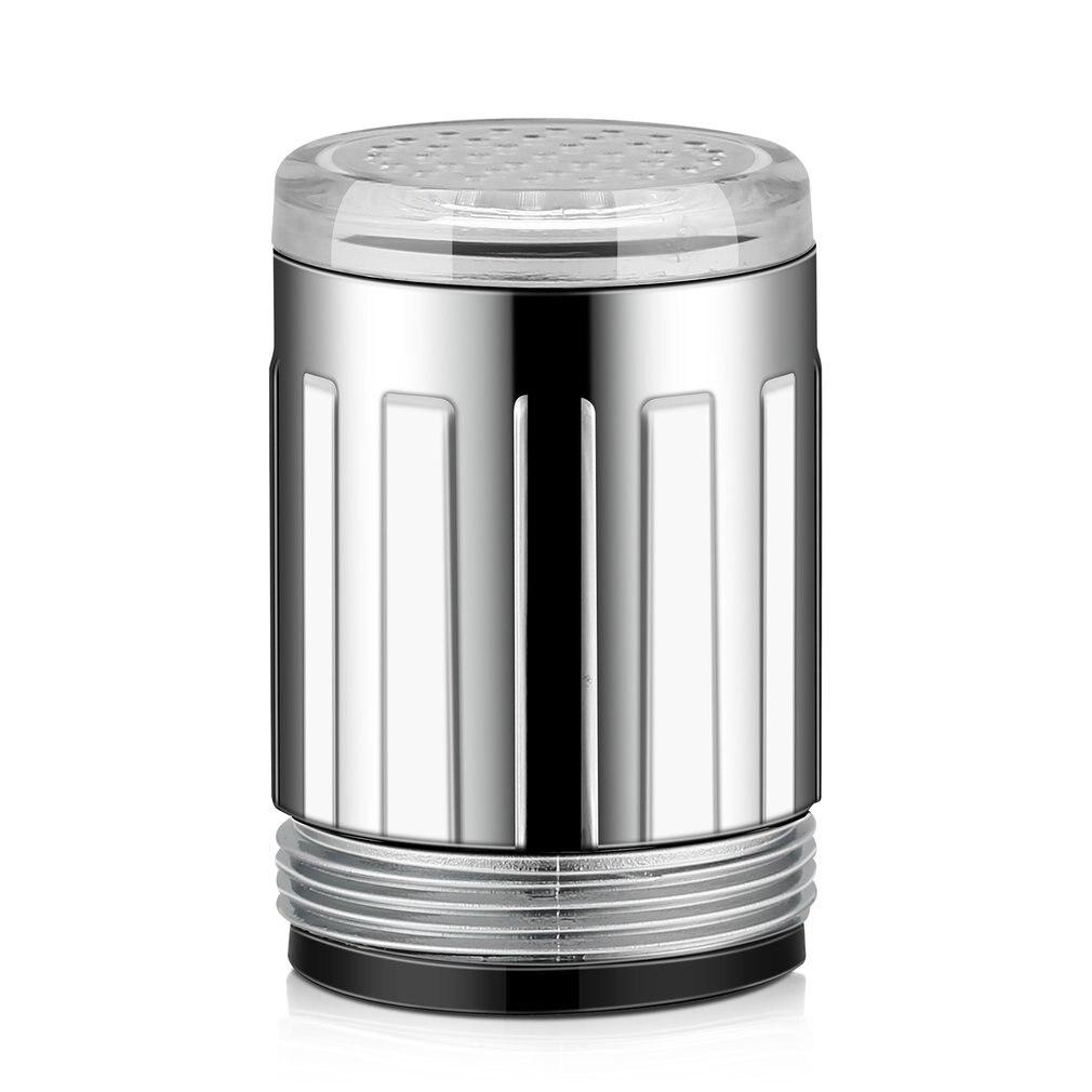 Luminous LED Water Faucet Shower Tap Temperature Sensor Intelligent Light-up Water Nozzle Head Light Kitchen Faucets 3Color