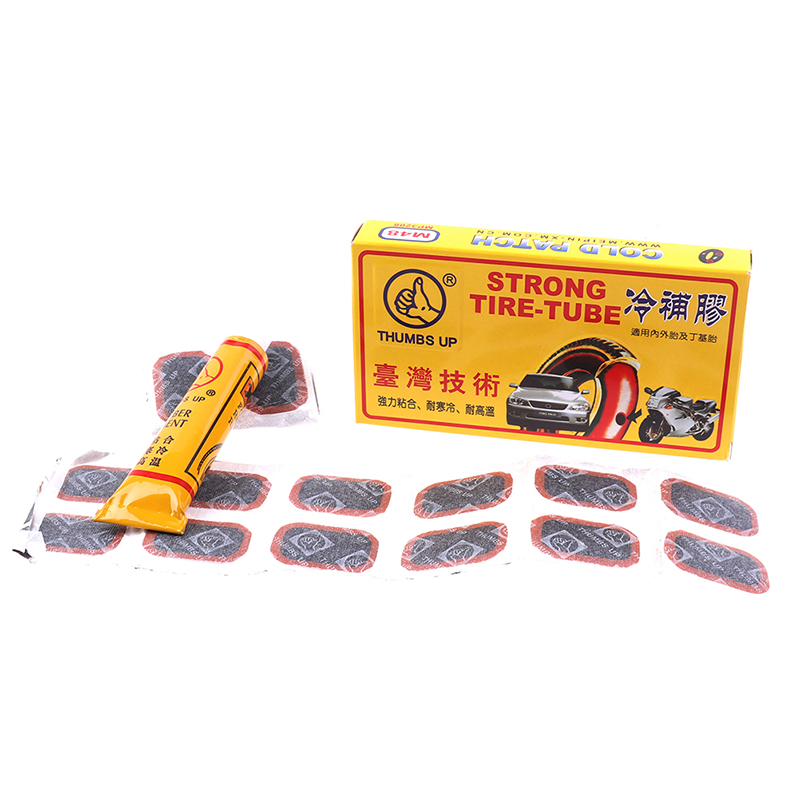 48Pcs+1 Glue High Quality Round Bicycle Cycling Puncture Repair Tools Kits