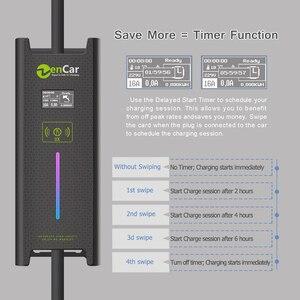 Image 4 - SAE J1772 тип 1 5 м черный кабель ev зарядная станция EVSE 10 16 20 24 32A для электрического автомобиля домашнее зарядное устройство Функция таймера