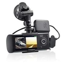 цены DVR Dash Camera 2.7'' Vehicle Car Drive Video Recorder Cam AVI G-Sensor GPS Dual Lens Wide Angle Dashcam X3000 R300 Auto DVRs