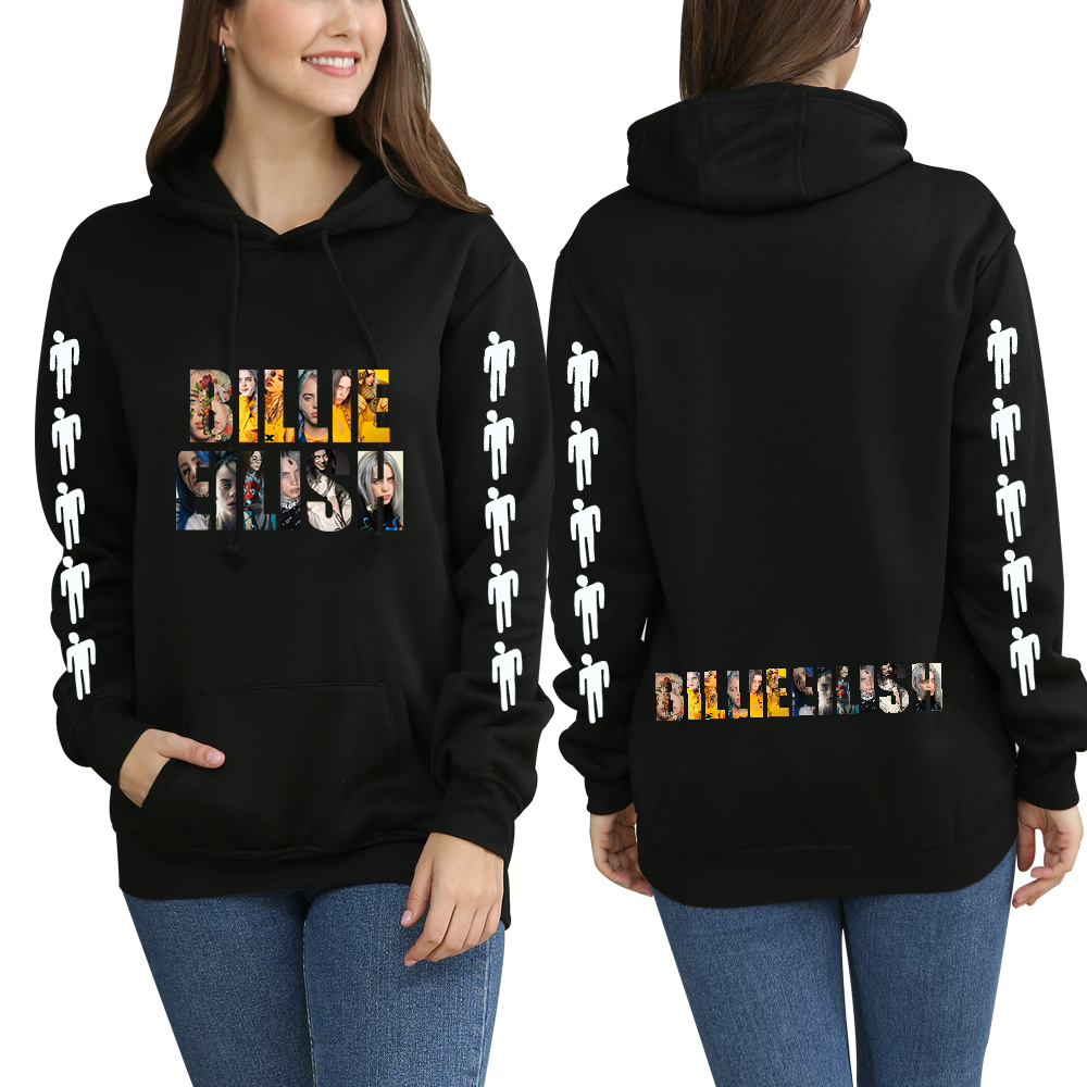 Billie Eilish Hoodies Sweatshirt Jacket Casual Oversized Hoodie Plus Size 4XL Merchandise Casual Trendy Fashion Clothing