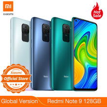 "Nouvelle Version mondiale Redmi Note 9 128GB 4GB Smartphone Helio G85 5020mAh batterie 18W charge rapide 6.53 ""DotDisplay 48MP caméra(China)"