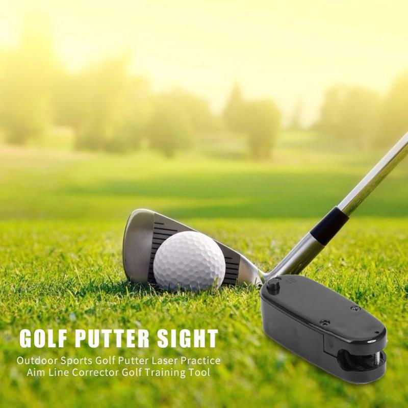 Smart Golf Putter Laser Safety And Reliability Fashionable Practice Aim Line Corrector Outdoor Sports Golf Tool 66x26x20mm