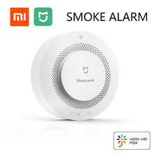 Mijia aqara sem fio sensor de alarme detector de fumaça de proteção contra incêndio lembrete periódico auto-teste para o sistema de alarme de segurança
