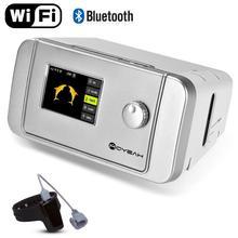 Автоматический сипап аппарат MOYEAH, Умный домашний вентилятор с часами против храпа и Wifi, подключенный для апноэ во сне, против храпа