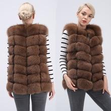 Real Fox Fur Vest Jacket Waistcoat Short sleeveless Vest woman winter warm Natural Fur Vest Real Fur Jacket Fox Fur Coats