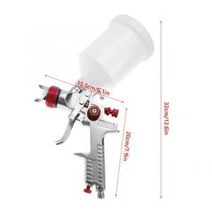 Image 5 - Набор пневматических пульверизаторов гравитационного типа, форсунка 1,4 мм, 600 мл, электроинструменты для живописи, профессиональная покраска мебели для автомобиля