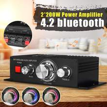 400W 12V Auto Audio Amplifier Subwoofer bluetooth Amplifier Theater Sound System