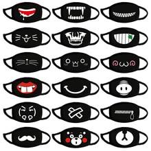 Masque buccal motifs dessins animés, 3 pièces/lot, masque facial Anti poussière en coton lavable, mignon, réutilisable, Kpop Bear pochette, à la mode, Kawaii