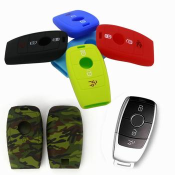 Car Key Case Cover Silicone Auto key Protector Skin Holder for Mercedes Benz E200 E300 E220 W204 W210 W203 W212 W205 E C S Class image