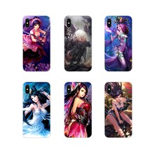 Silicone Phone Cases Covers anime girl princess Beauty For Apple iPhone X XR XS 11Pro MAX 4S 5S 5C SE 6S 7 8 Plus ipod touch 5 6(China)