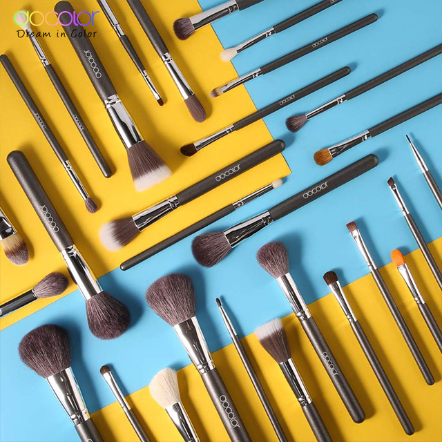 Docolor Makeup Brushes Professional Natural Make Up Brushes Set Foundation Powder Contour Eyes Blending Beauty Cosmetic Brushes 5