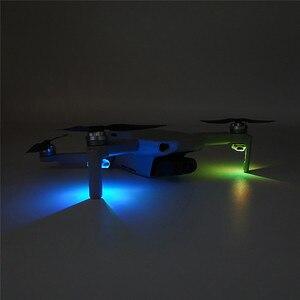 Image 3 - Kit de LED Flash coloré Rechargeable pour DJI Mavic Mini Drone accessoires décoration de lumière unique