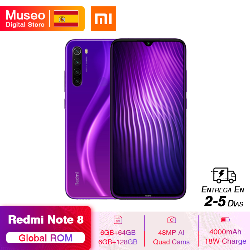 Global ROM Xiaomi Redmi Note 8 6GB 64GB 48MP Quad Camera Smartphone Snapdragon 665 Octa Core 6.3FHD Screen Quick Charge