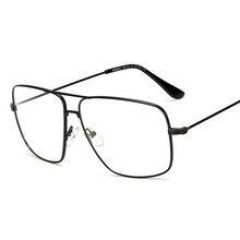 Eyewear Glasses Optical-Lens Retro Metal-Frame Nerd Square Gold Vintage Womens