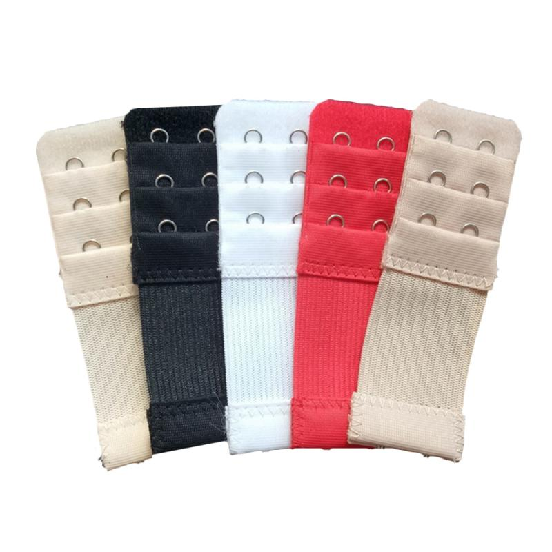 5 Colors Elastic Three Rows Of Two Buckle Bra Extenders Simple Bra Back Button Extension Bra Accessories For Women Gifts